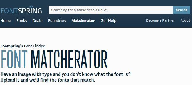 Font Spring Font Matcherator