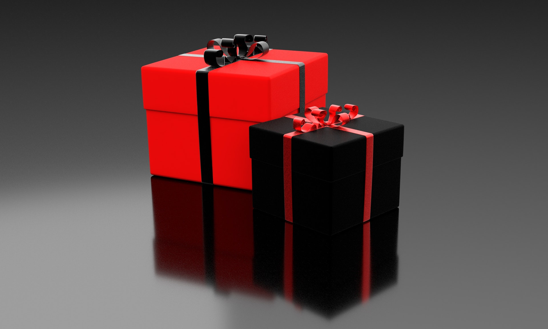Free Gifts in Red and Black Gift Boxes