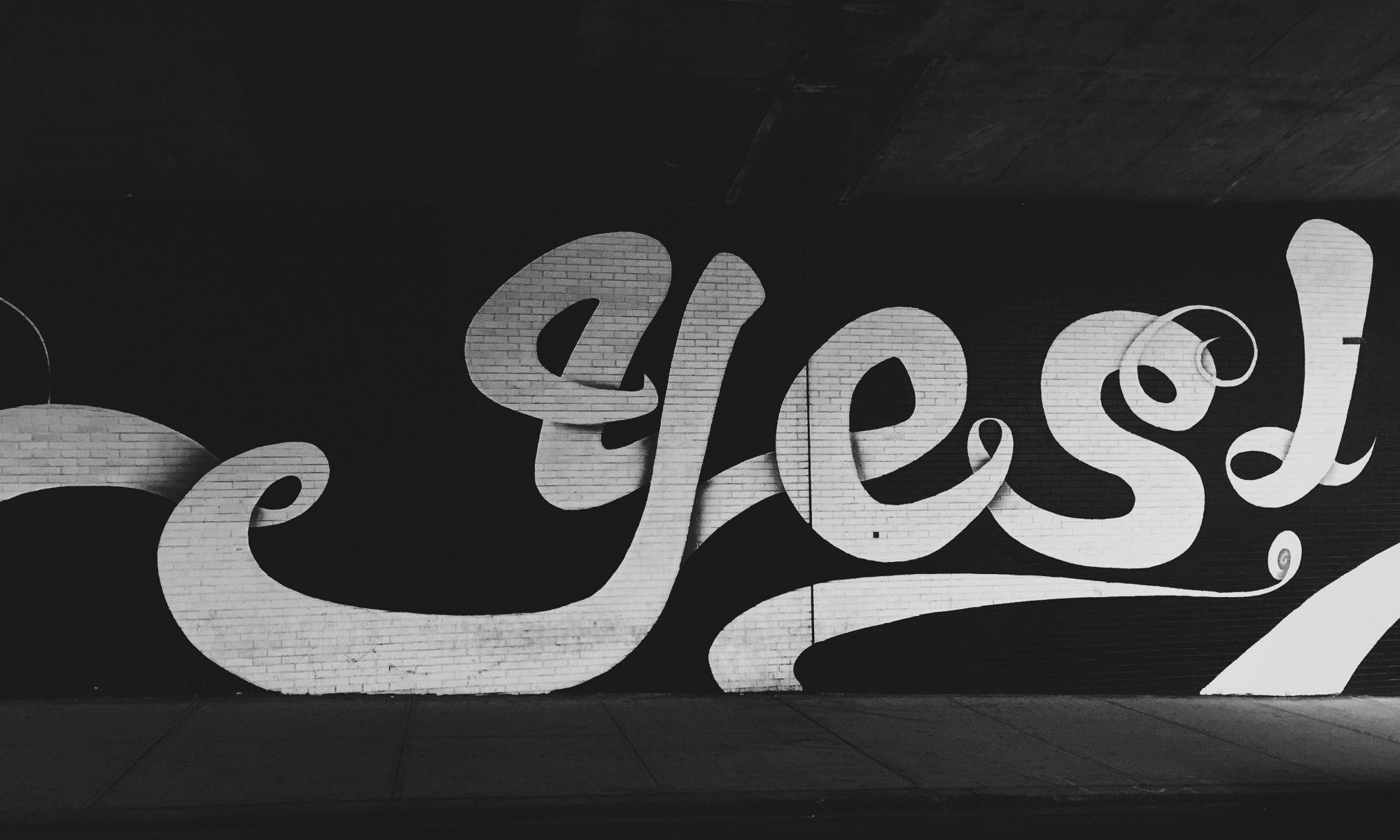 Yes written in grafitti