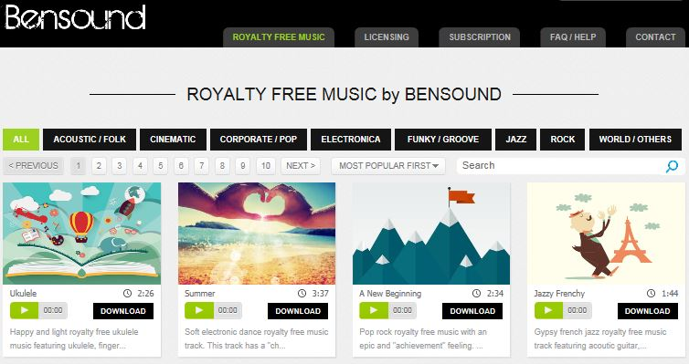 Bensound Royalty Free Music