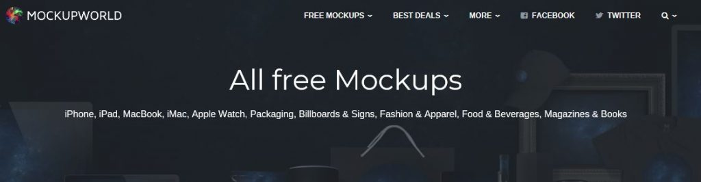 Free Mockups from Mockup World