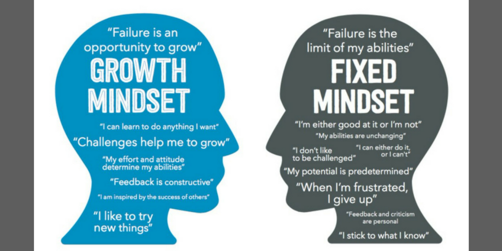 The difference between a Growth Mindset and a Fixed Mindset