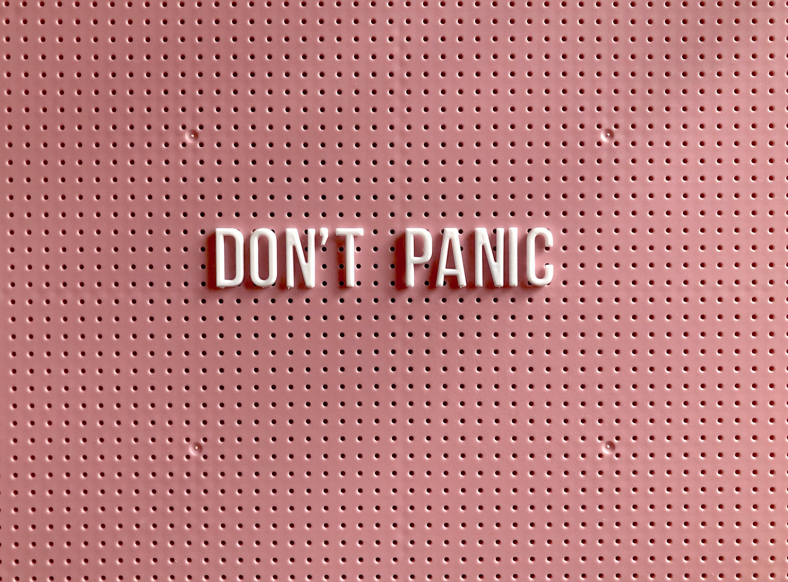 When stepping out of your comfort zone it's important not to panic.